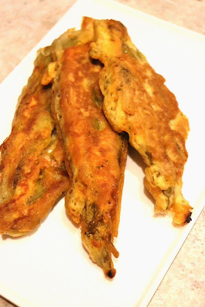 New Mexican Fried Green Chile Strips - New Mexican Foodie #mexicancooking