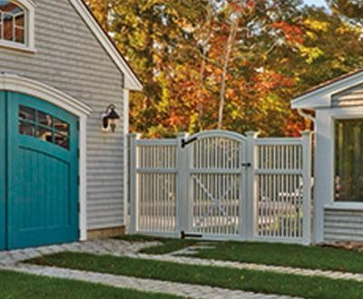Yorktown Fence And Convex Gate Wood Solid Cellular Pvc Metal