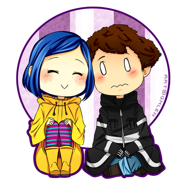 Coraline And Wybie By Reishichi Coraline And Wybie Coraline Drawing Coraline Art