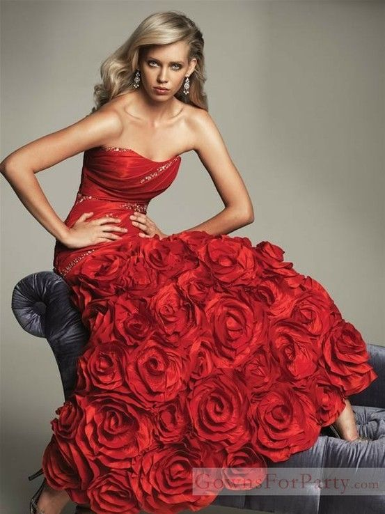 Red Rose Dress - Portrait - Fashion - Editorial - Photography ...