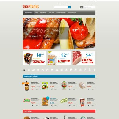 Grocery Store  PSD Template