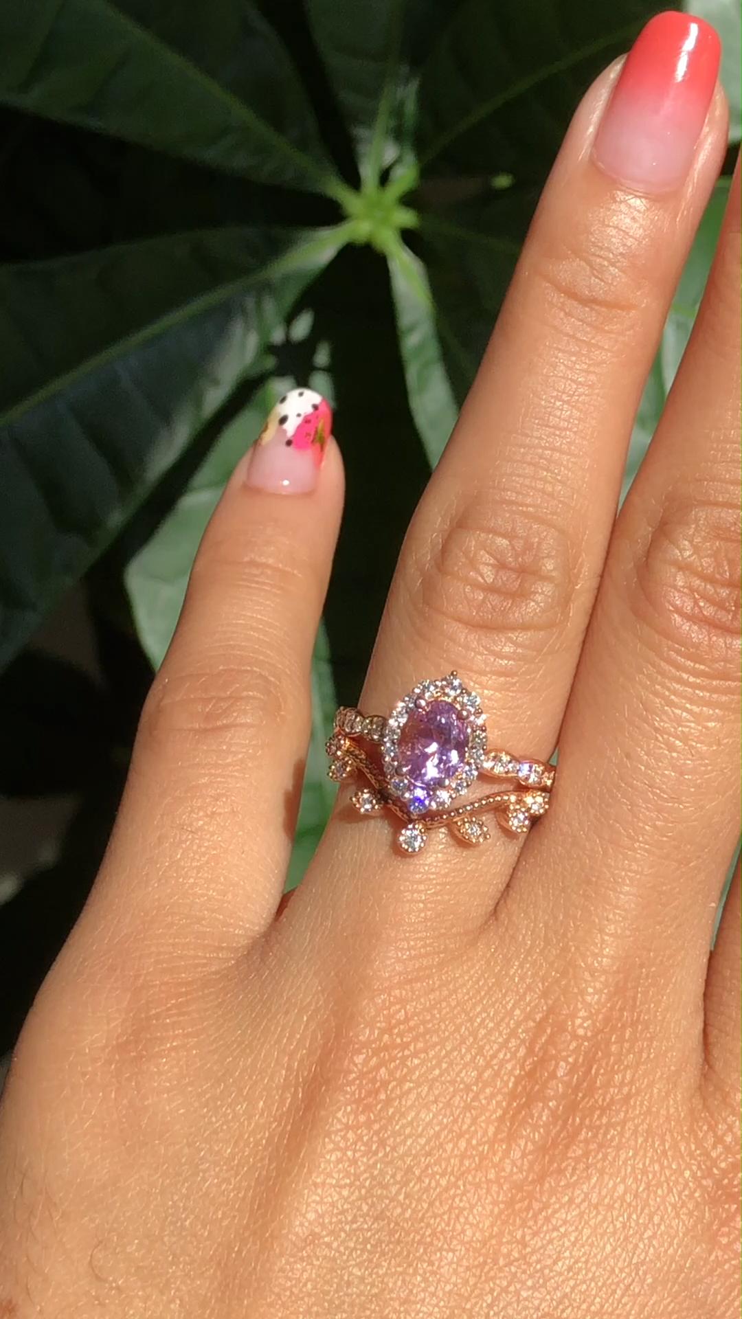 Halo Ruby Engagement Ring 14K White Gold Flower Ring 0