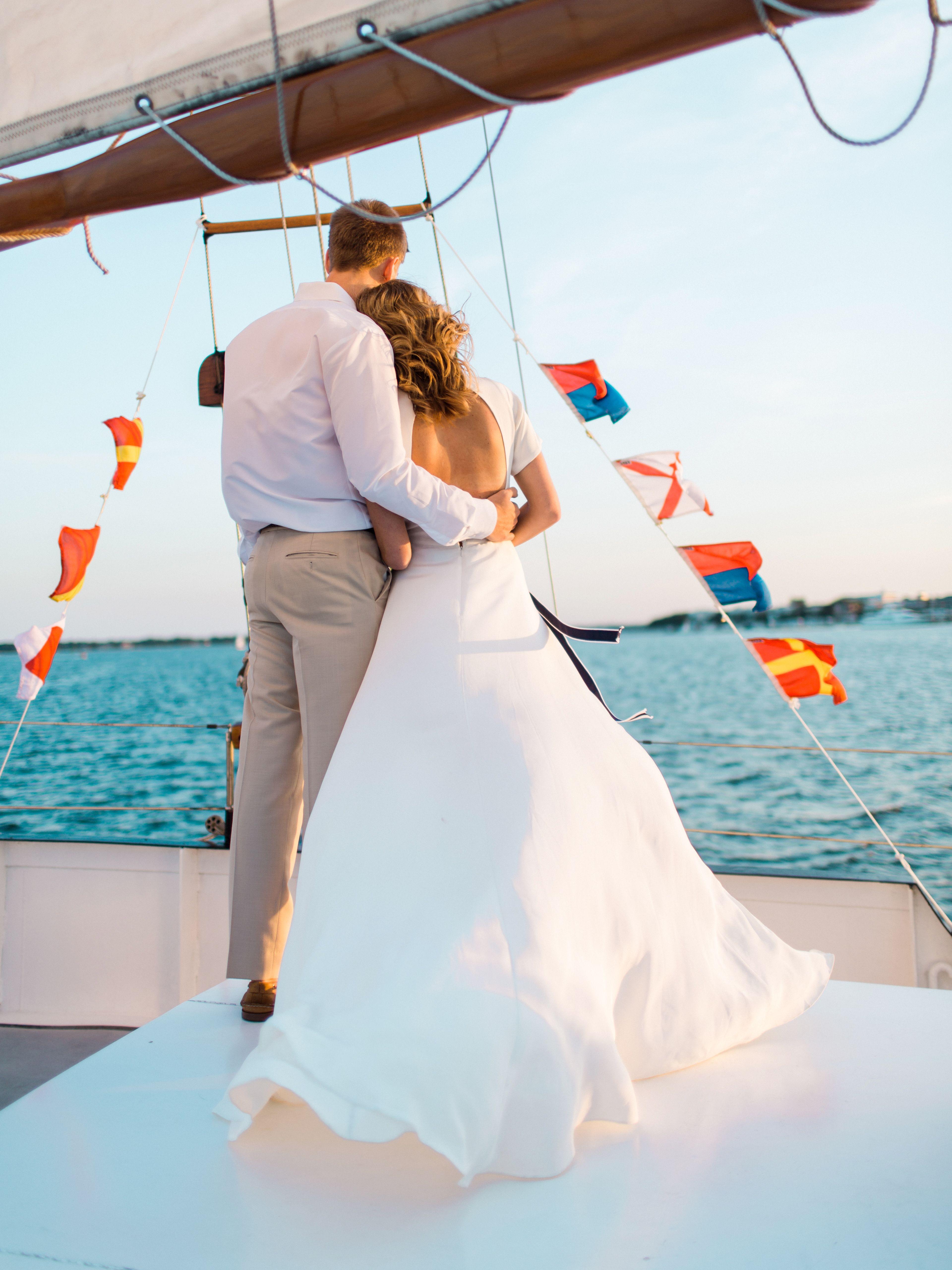 Nautical Theme Wedding In Charleston South Carolina Nautical Wedding Theme White Formal Dress Formal Dresses