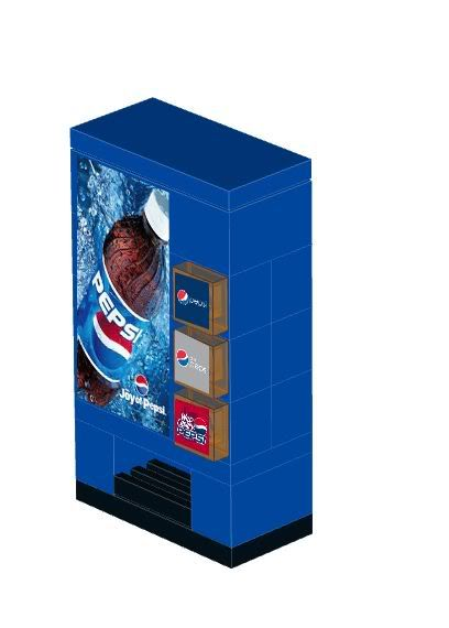 Lego City Custom Vending Machine Instructions With Stickers This