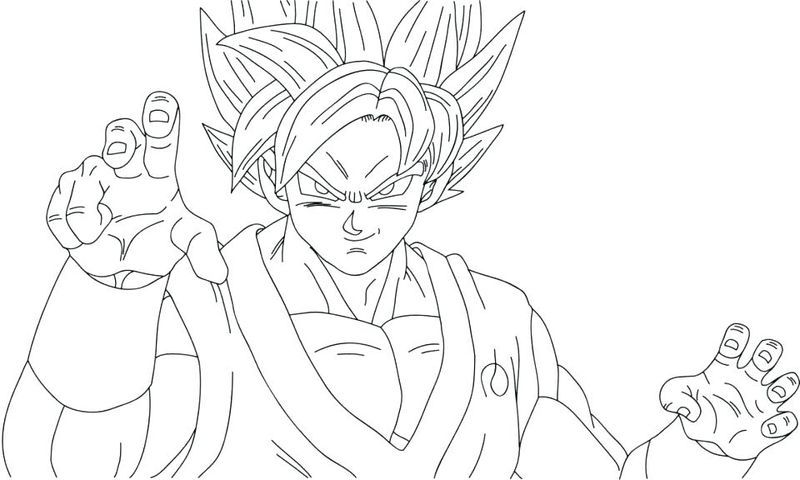 Ultra Instinct Goku Coloring Page Printable In 2020 Super Coloring Pages Dbz Drawings Coloring Pages