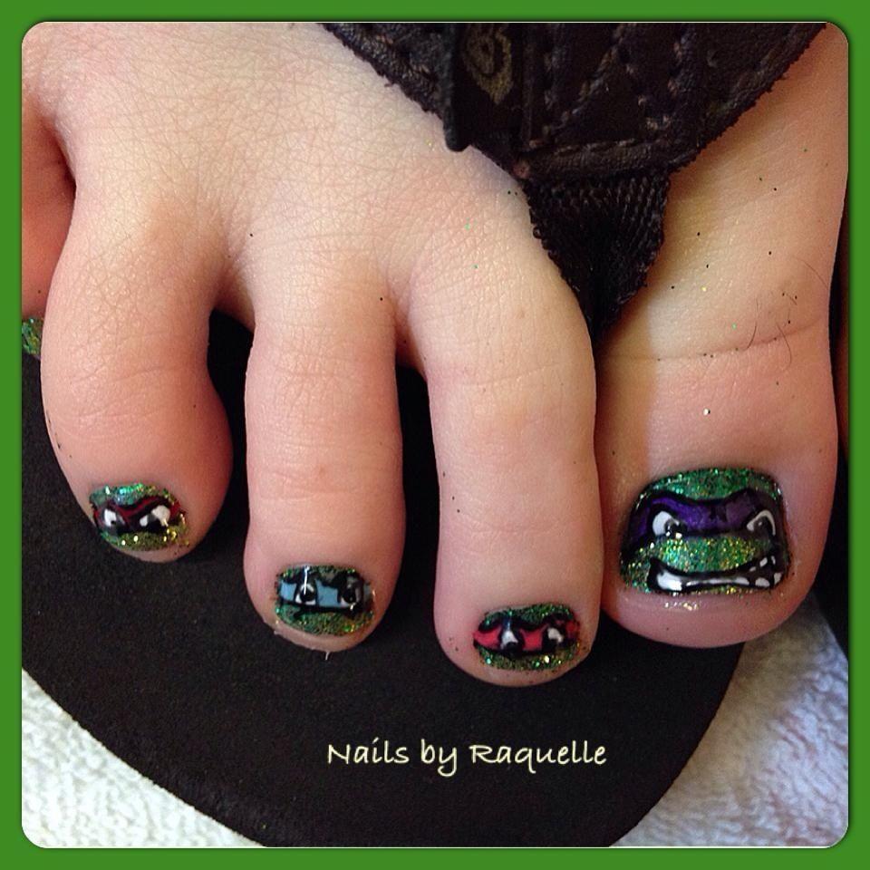 Teenage Mutant Ninja Turtle Toes (Nails by Raquelle Del Torro ...