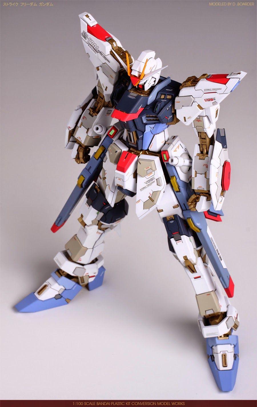 Mg 1 100 Strike Freedom Gundam Conversion Parts Customized Build Modeled By 아빠보더예요 Gundam Custom Gundam Gundam Custom Build