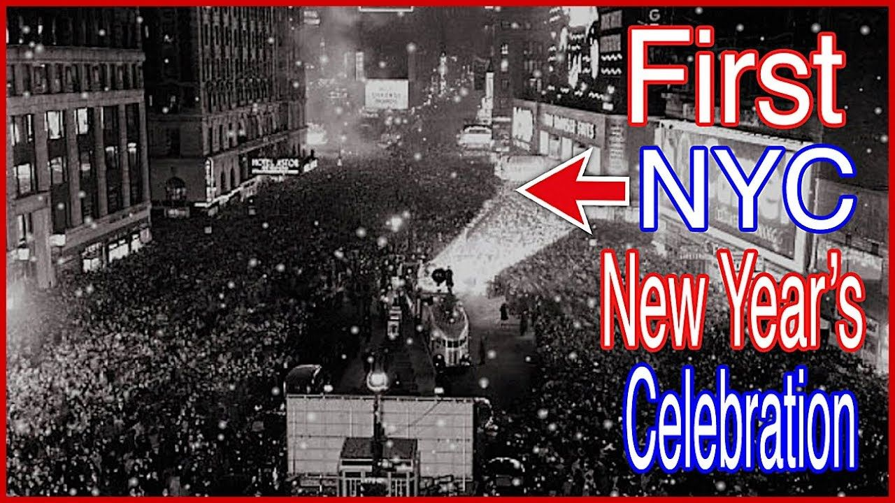 This Day In History December 31 1904 First Nyc New Year S Celebration New Year Celebration History Times Square New York