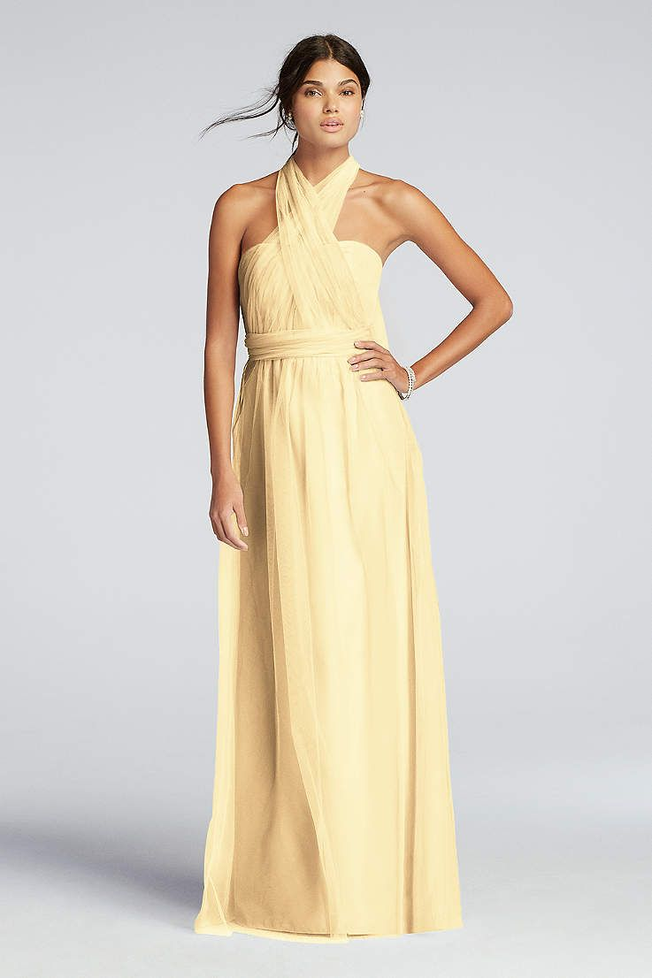 View simple strapless not applicable bridesmaid dress at davidus