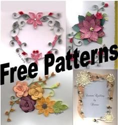 Printable quilling patterns d0wnloads free quilling for Quilling patterns for beginners