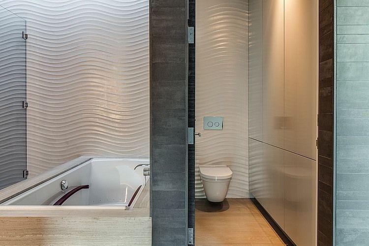 Textured Tiles Inside The Bathroom   Decoist