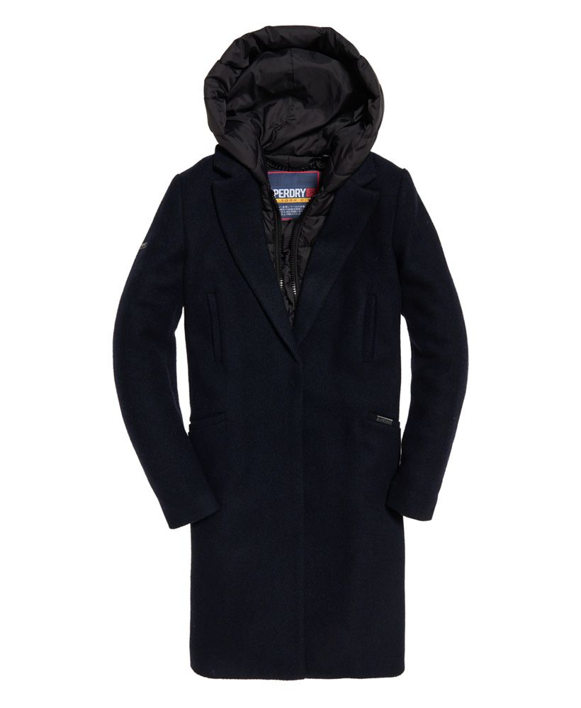 Wth Clothes Wollen Coat Jas Superdry En Fjola Tech Wool dPIwPXq