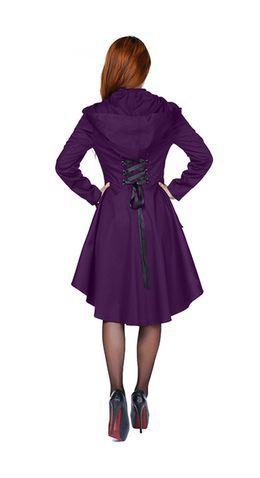 chic star plus size purple knee length corset jacket
