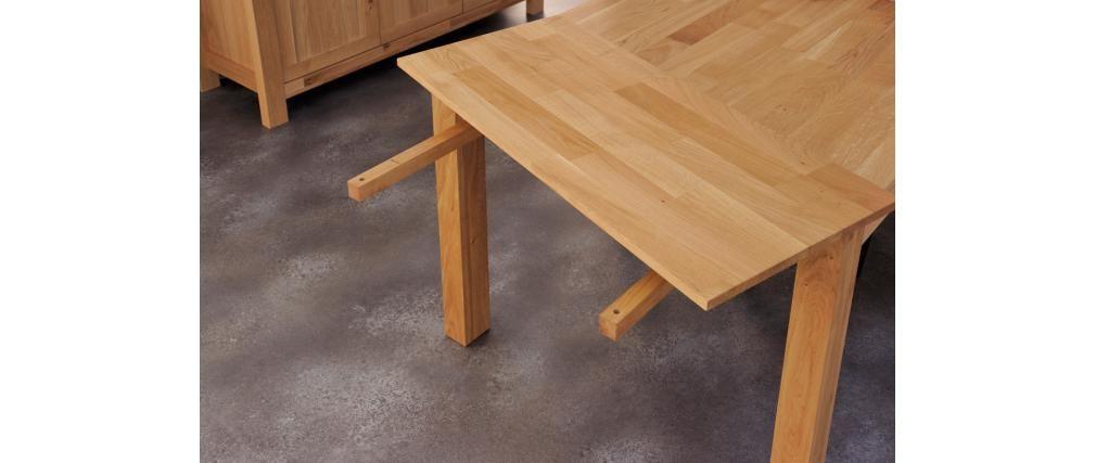Table A Manger Extensible Design Chene Huile Boscus Salle A Manger