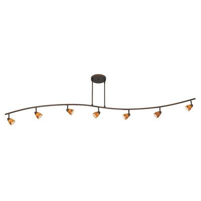 Cal Lighting Serpentine 7 Light Full Track Kit With Swirl Gl Reviews Wayfair