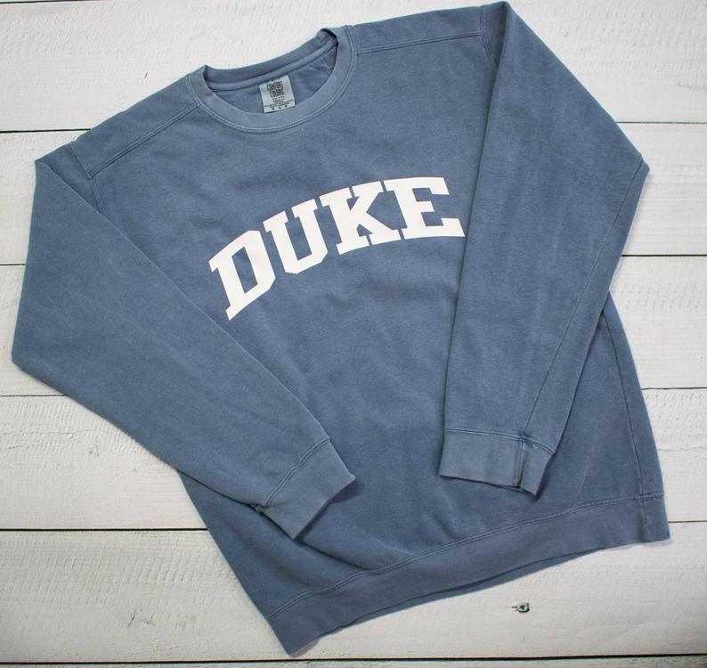 Customized School Comfort Colors Sweatshirt Block Lettering