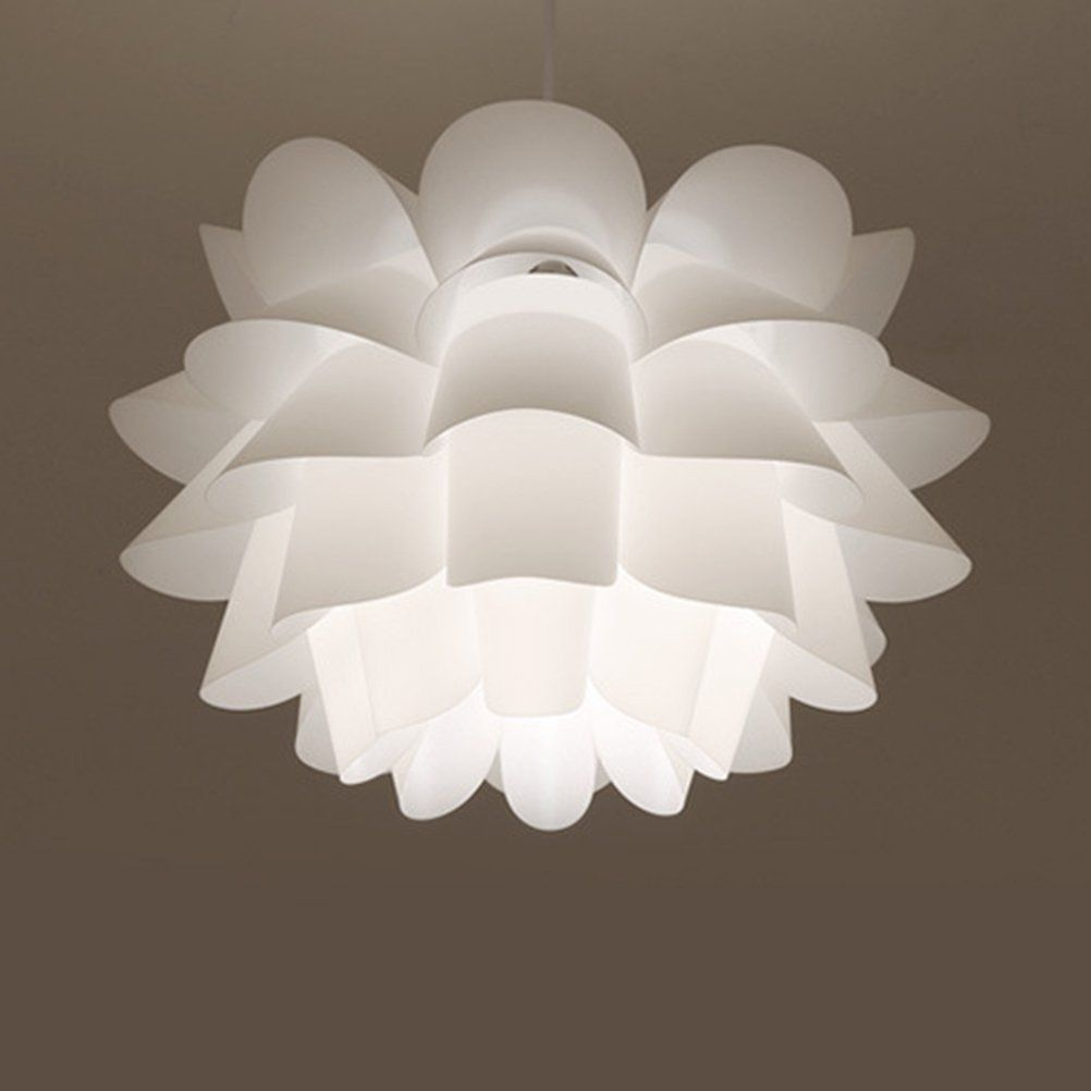 Ledmomo Pendant Lamp Assembly Lotus Chandelier Ceiling Pendant Lampshade Diy Puzzle Lights Modern Lamp Shad Puzzle Lights Modern Lamp Shades Pendant Lamp Shade