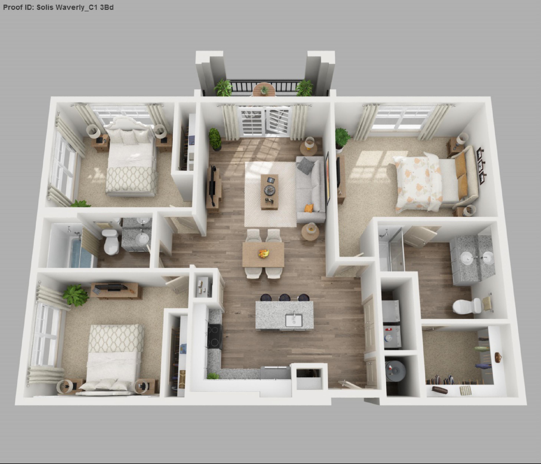 Kleines Haus Etagen Kleines Haus Mit Loft Drei Schlafzimmer Planen Kleine Haus Pläne Mit Keller #Schlafzimmer #apartmentfloorplans