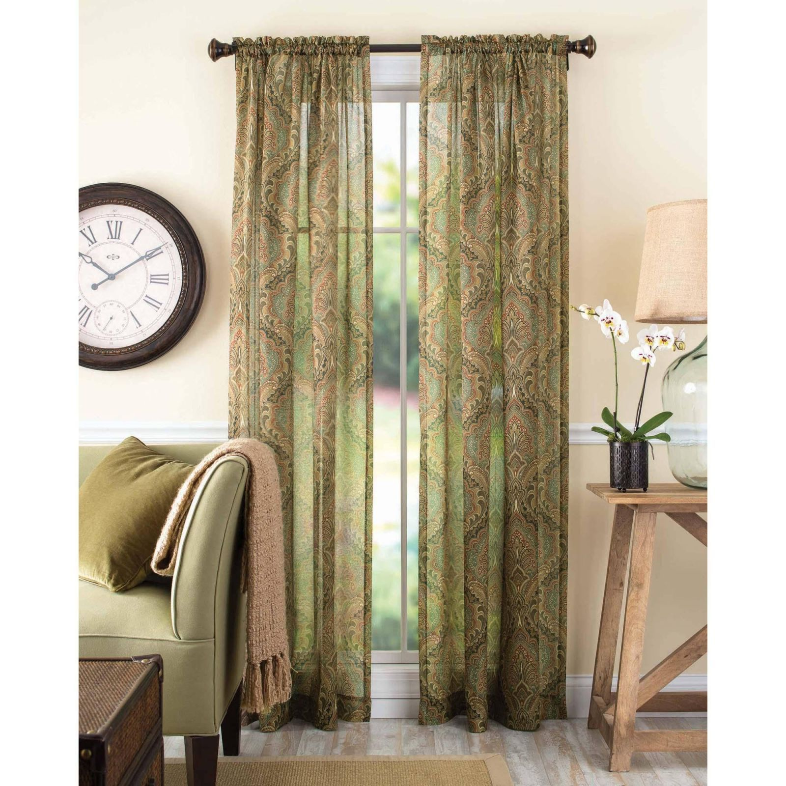 Awesome Criss Cross Curtains Sheer Green sheer curtains