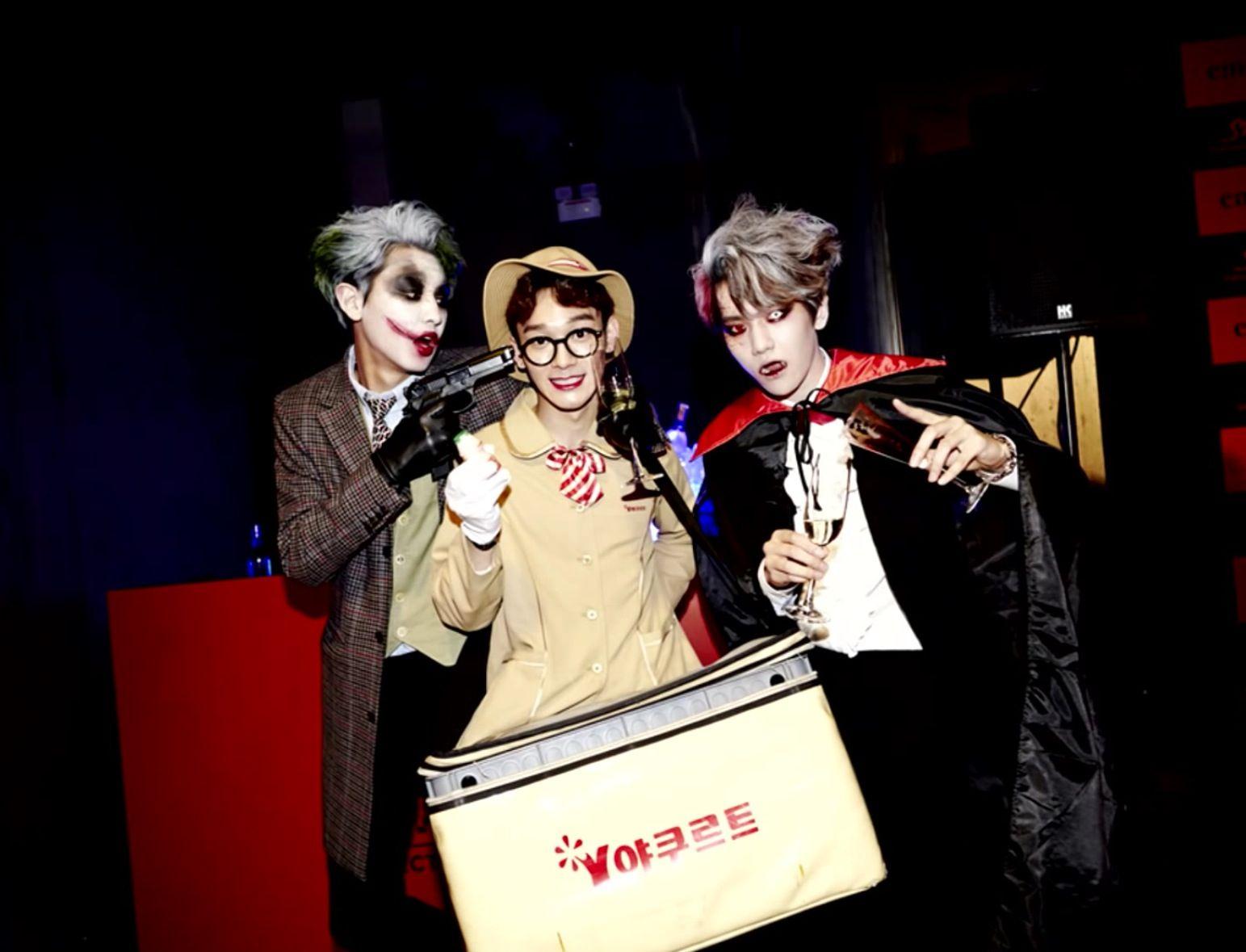 Chanyeol Chen Baekhyun from EXO Sm Halloween party | K-POP ...
