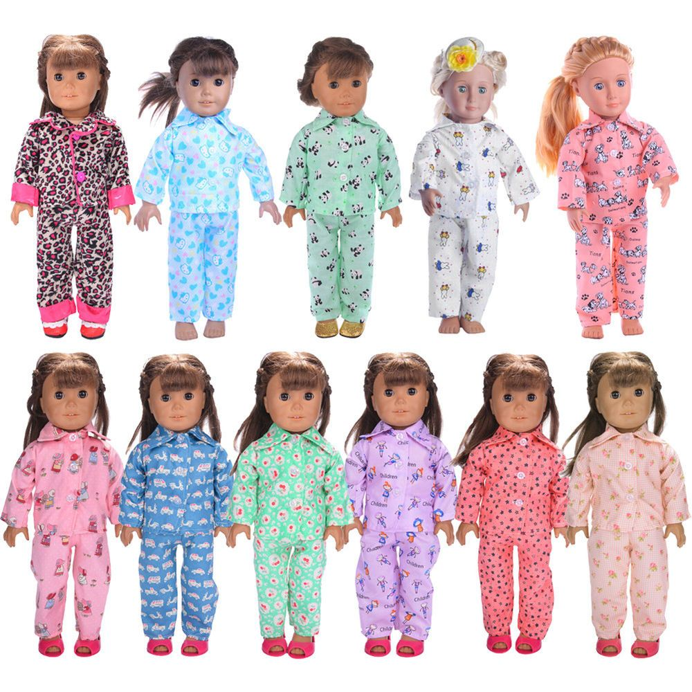 bbbf93deb70b Cute Pajamas PJS Nightgown Clothes for 18 inch Our Generation American Girl  Doll