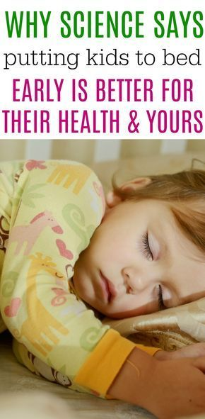 Put Your Kids To Bed Earlier, Because Science Says It's ...