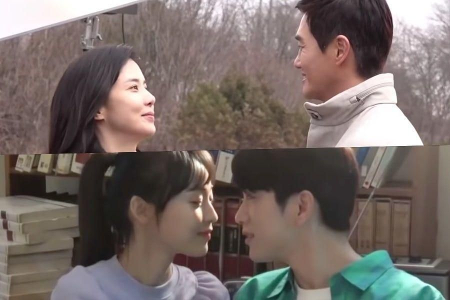 """Watch: Yoo Ji Tae, Lee Bo Young, GOT7's Jinyoung, And Jeon So Nee Give Viewers Butterflies Shooting Romantic """"When My Love Blooms"""" Posters"""