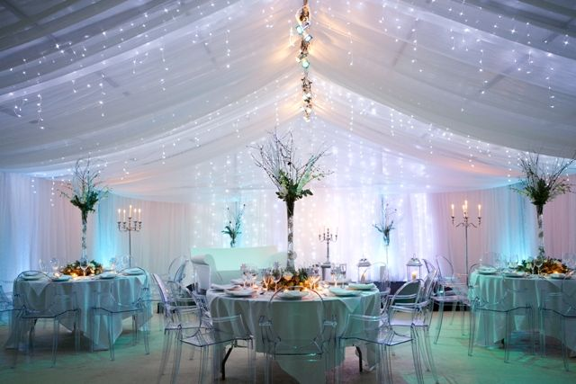 There are plenty of pretty tent ideas if we have it for Winter themed wedding centerpieces