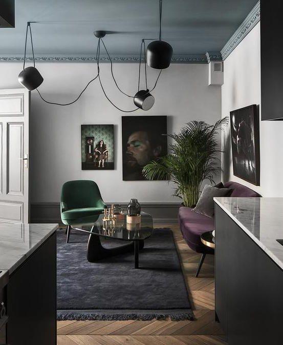 Home In Dark Colors Coco Lapine Design Home Living Room Decor Interior