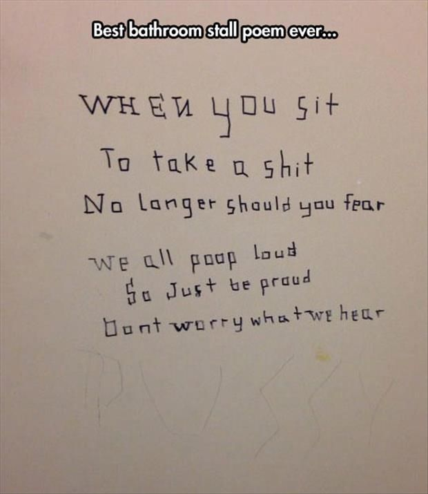 funny bathroom wall quotes