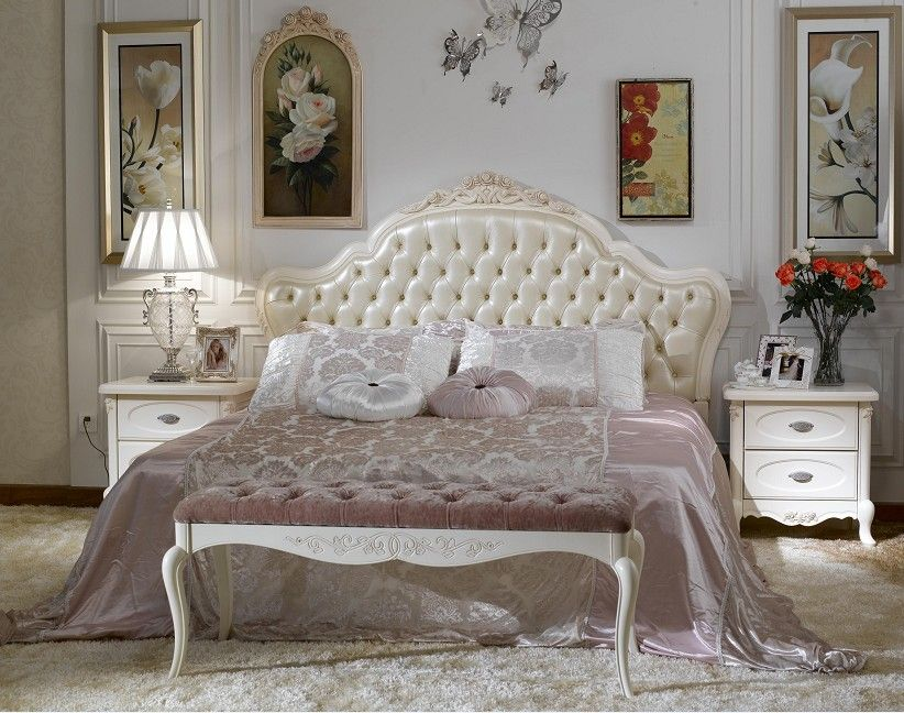 Gorgeous French Style Bedroom Furniture Classic Accents ...