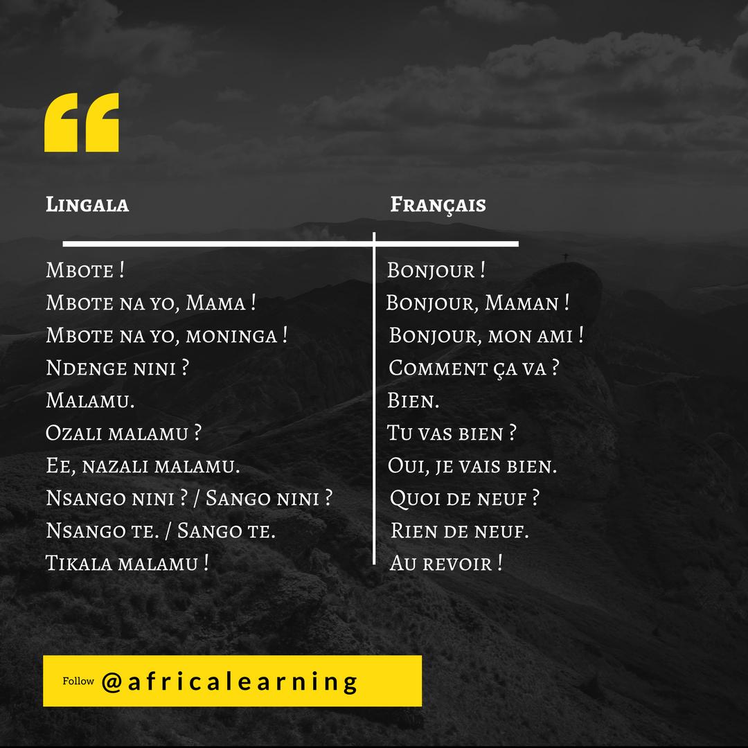 Les Salutations En Lingala Cours De Français Apprentissage Cours De Langue