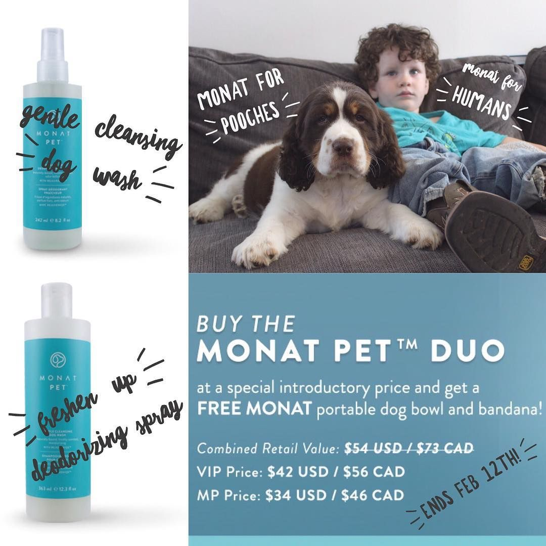 We Are Very Excited To Announce The Introduction Of An Incredible New Pet Care Line From None Other Than Monat W Natural Pet Care