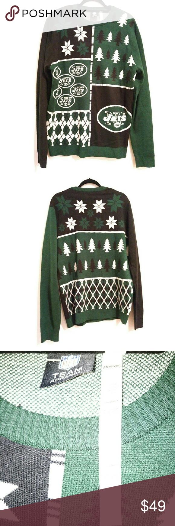 Jets ugly xmas sweater xl mens gary v   My Posh Picks   Pinterest ...