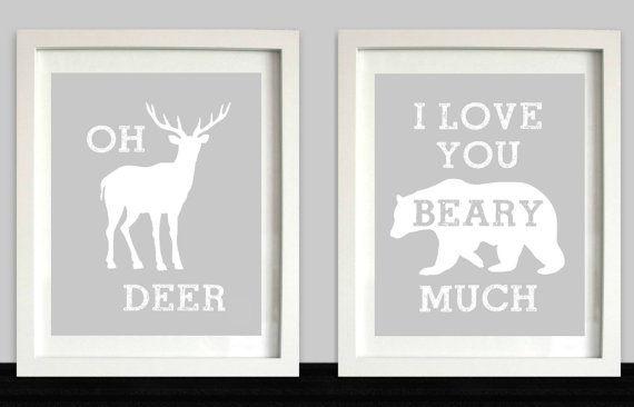 Woodland Nursery // Oh Deer // I Love You Beary by NothingPanda