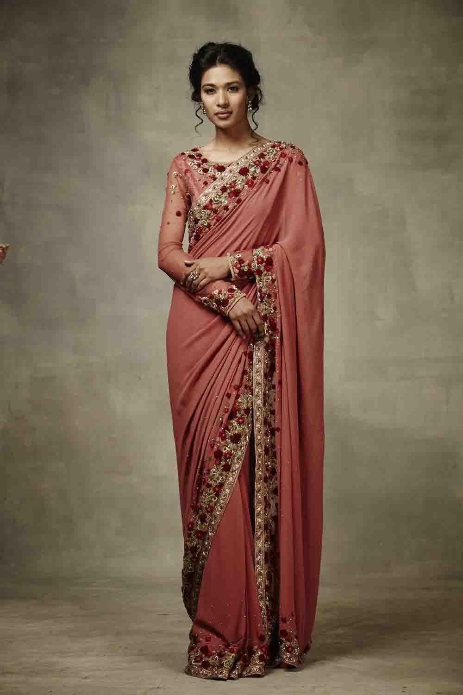 562ffcec8f75e Floral Embroidered Saree