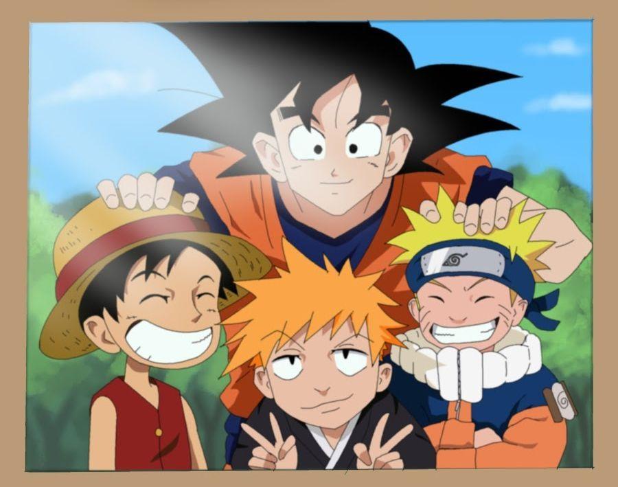 Goku Luffy Naruto Ichigo Dessin Anime Dessin Manga Fond D Ecran Telephone Manga
