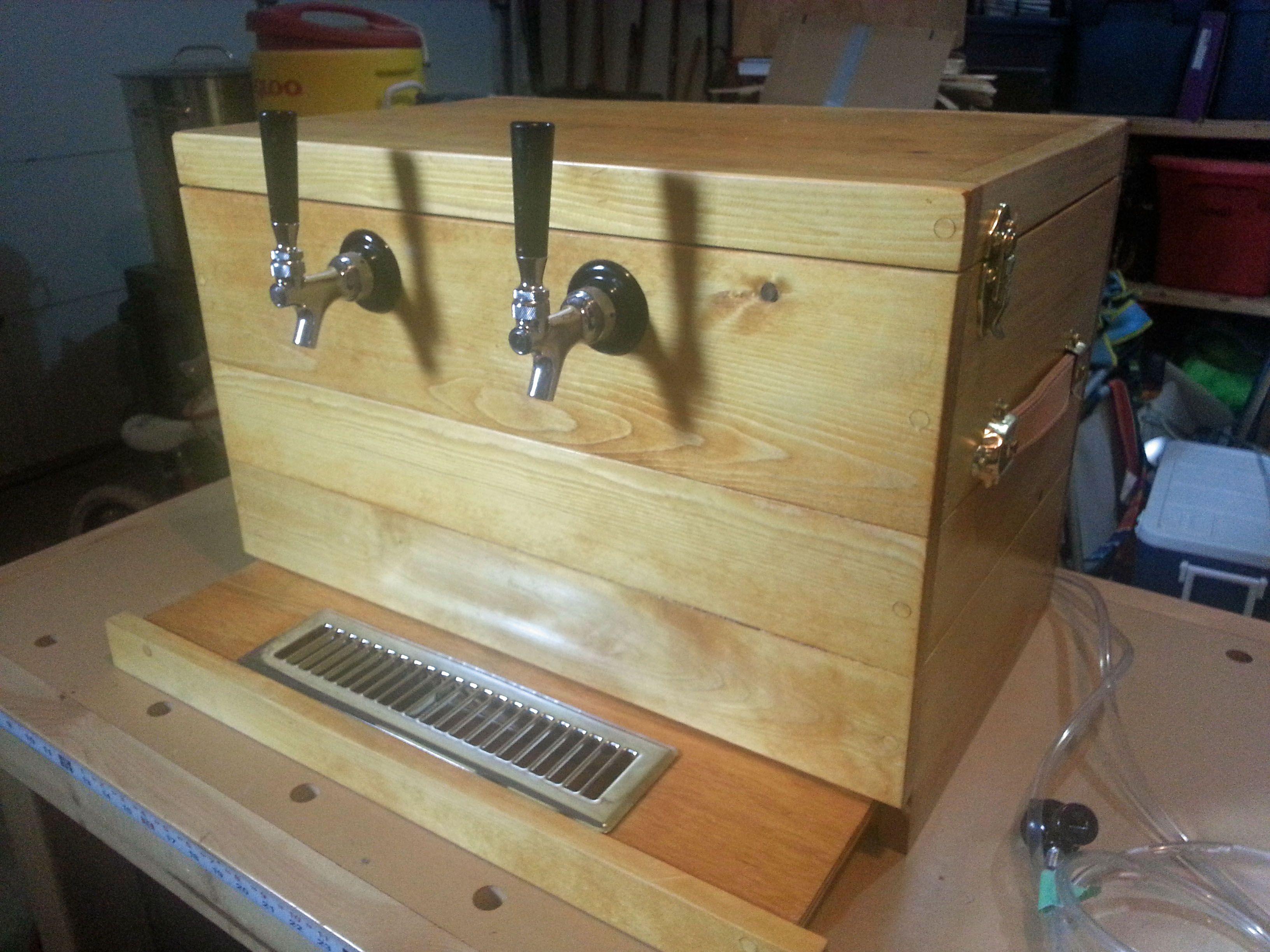 My wooden jockey box home brew forums diy beer home
