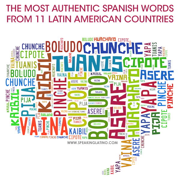 The most authentic spanish words from 11 latin american countries the most authentic spanish words of argentina el salvador colombia costa rica cuba ecuador guatemala honduras mexico nicaragua and peru freerunsca Image collections