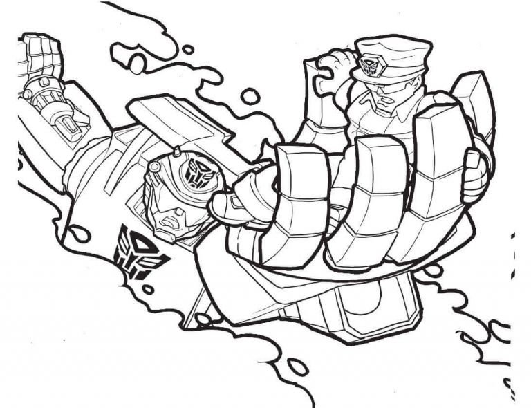Chase Transformers Saving A Policeman Coloring Page Coloring