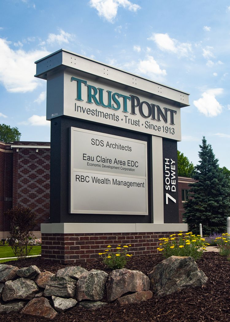 Monument Sign With Tenant Panels By Incorporating Existing