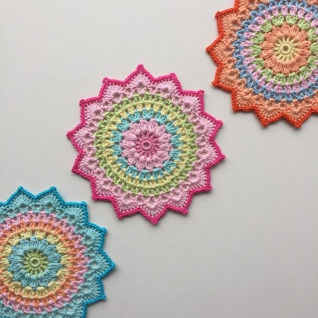 Cherry Blossom Mandala - free pattern @ Crochet Millan thanks so for ...