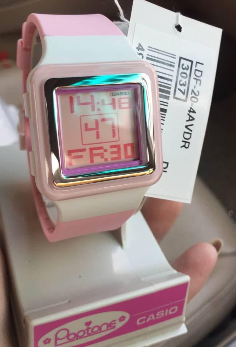 นาฬิกาข้อมือ Casio Poptone รุ่น LDF-20-4A นาฬิกาข้อมือสำหรับผู้หญิง ... 634936c20b