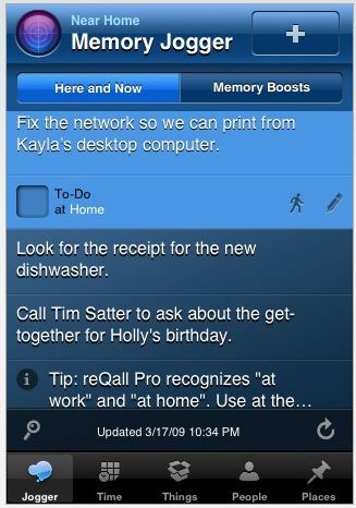 Getting Things Done iPhone Style Reqall iPhone App
