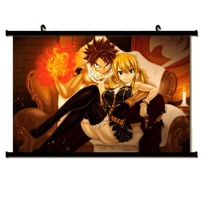 FAIRY TAIL Anime PAINTING Room Bedroom Mural Decor Wall Scroll Art - Wall decals carscartoon cars break through wall art mural decor sticker cracked