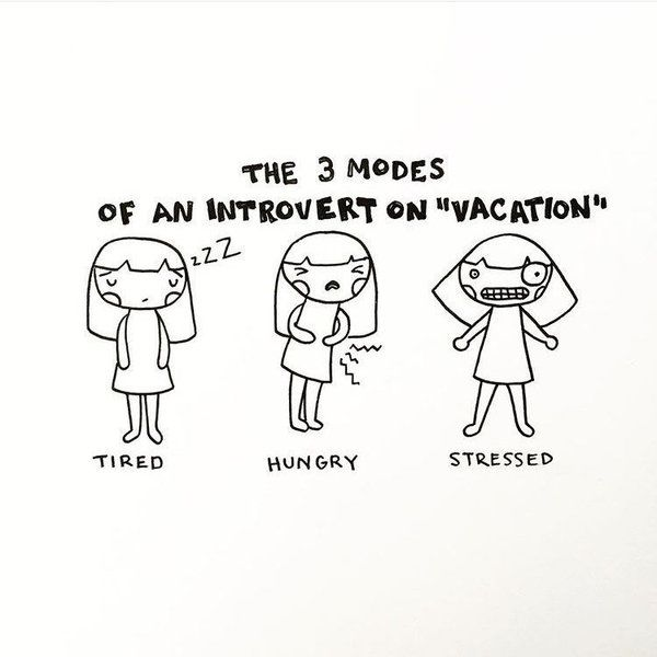 Drawings That Nail The Everyday Life Of An Introvert INTJ - 20 struggles perfectly sum life introvert