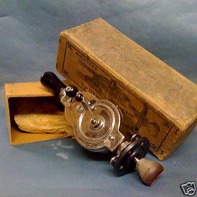 Antique hand crank womens vibrating dildo
