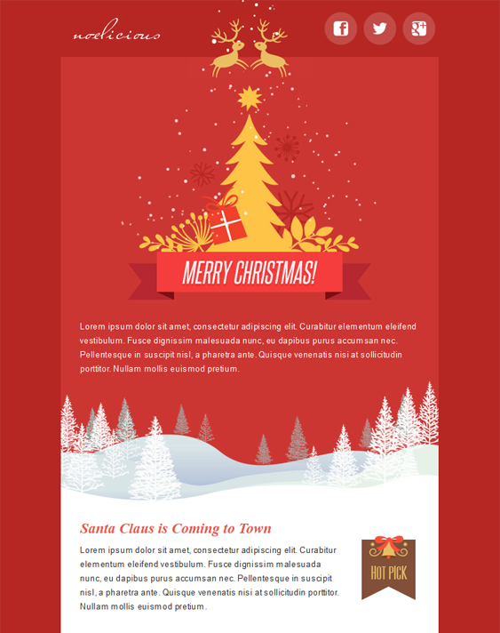 This Holiday And Christmas Email Template Includes A