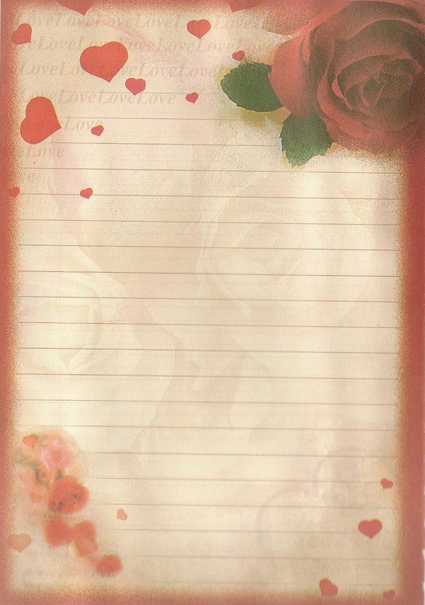 صور اوراق حب للكتابة عليها Love Letter Notes Stationery Floral Stationery Writing Paper