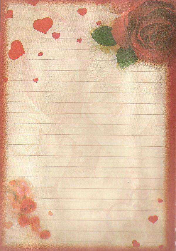 صور اوراق حب للكتابة عليها Love Letter Papel De Carta Carta Folhas